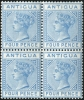 Antigua 1879 Wmk CC, perf 14, 4d. blue, SG. 20 in a mint block of four stamps
