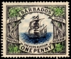Barbados 1906 Tercentenary Of Annexation Stamp overprinted Specimen
