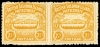 British Solomon Islands 1907 Large Canoe 2 1/2d orange-yellow pair of stamps imperforate between SG 4b